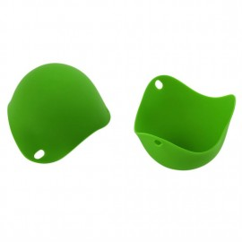 2 PCS Silicone Egg Poacher Fried Eggs Tray Nontoxic Eggboilers Cooking Tools