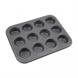 12 Cups Mini Muffin Bun Cupcake Baking Bakeware Mould Tray Pan Kitchen