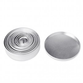12PCS/SET Round Circle Shape Stainless Steel Cookie Mousse Cake Ring Mold
