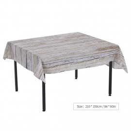 84 * 60' Rectangular Dinner Table Cloth Polyester Printed Coffee Table Cover Tablecloths Home Decoartion