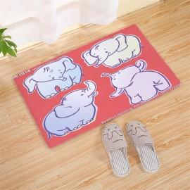 Cartoon MOE pattern carpet strip bay window absorbent non-slip pad thickened 50*80CM style 14
