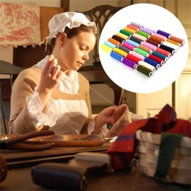 39pcs 200 Yard Mixed Colors Polyester Spool Sewing Thread For Hand Machine