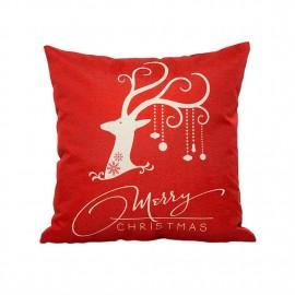 Christmas Pillow Cushion Cover Comfortable Linen Sofa Seat Car Pillow Cover