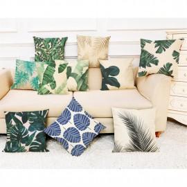 Cross-border hot sales of tropical plants cotton and linen pillow cases car pillow home sofa cushion cushion cushion 45*45 super soft A