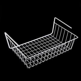 White/Silver Kitchen Under Shelf Storage Basket Li..