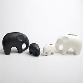 Animal cartoon shape white lubao succulent plant elephant furnishing ceramic handmade tabletop pot zakka lubao elephant
